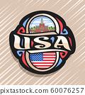 Vector logo for USA 60076257