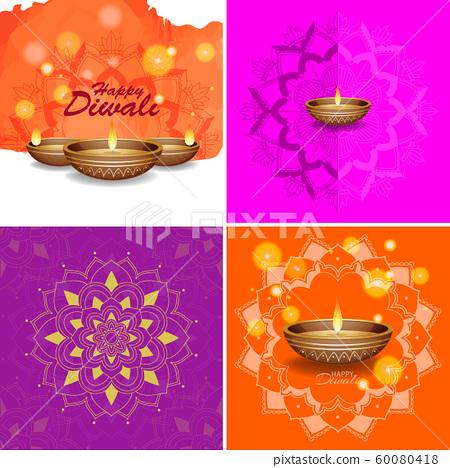 Background Template With Mandala Designs Stock Illustration 60080418 Pixta