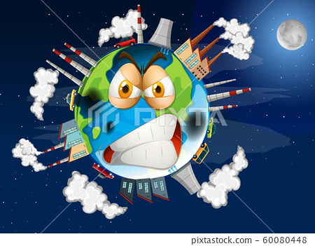 Poster design of global warming on earth 60080448