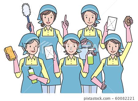 婦女與清潔工具 60082221