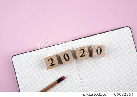 New year diary, calendar background 60082554