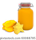 Jar of Starfruits Jam with carambolas 60088785