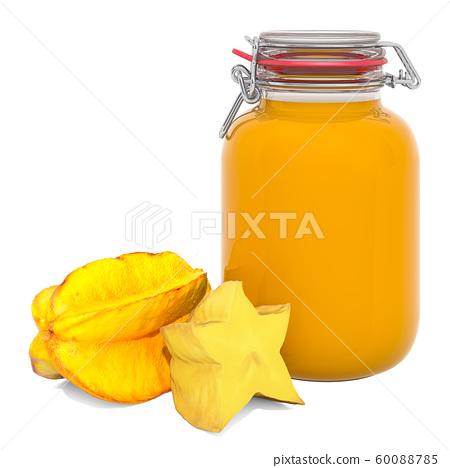 Jar of Starfruits Jam with carambolas 60088785