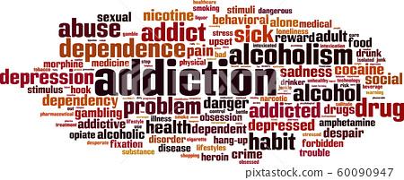 Addiction word cloud 60090947
