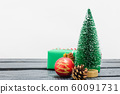 Christmas composition decorations, minimal green 60091731