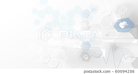Abstract geometric technology digital hi tech. Medicine and science concept background 60094286