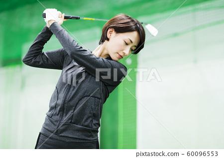 Golf golf school fitness gym woman 60096553