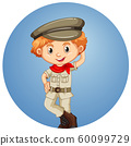 Happy boy on round background 60099729