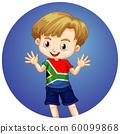 Happy boy on round background 60099868