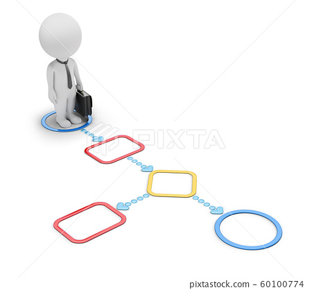 3d small people - in flowchart 60100774