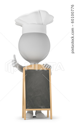 3d small people - cook and menu board 60100776