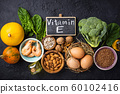 Assortment food sources of vitamin E 60102416