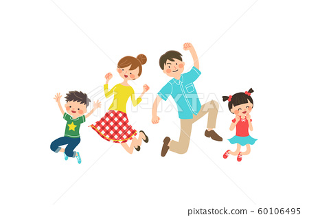Family jumping 60106495