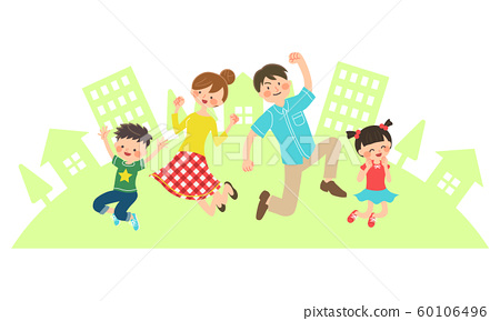 Family jumping 60106496