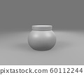 white Plastic Jar on sphere front view 60112244
