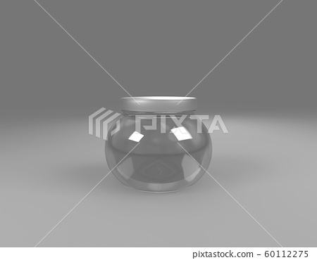 glass Jar on sphere front view 60112275