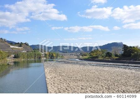Japan's only cobblestone dam, Yamada dam (Asakura City, Fukuoka Prefecture) 60114099