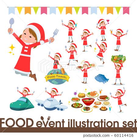 flat type Santa Claus girl_food festival 60114416