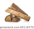 Pine firewoods isolated 60116570