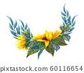 sunflower, flower, leaf 60116654