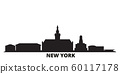 United States, New York Buffalo city skyline isolated vector illustration. United States, New York Buffalo travel black cityscape 60117178