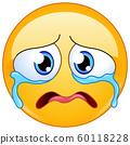 sad crying emoticon 60118228