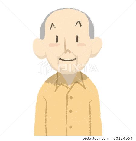 Grandpa, face, smile 60124954