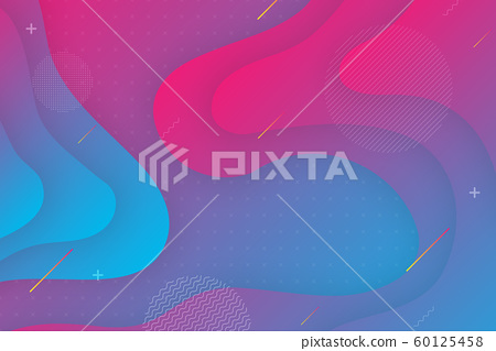 Colorful background With proportions and components in a fluid, wavy shape and color gradation. 60125458
