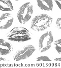 Kisses seamless vector pattern. lips print pattern 60130984