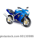 illustration of sportbike isolate on white 60130986