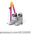 Mountain ski boot Vector isolated on white 60130995