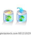glass recycle bin vector icon 60131029