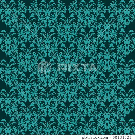 elegant blue seamless damask background 60131323