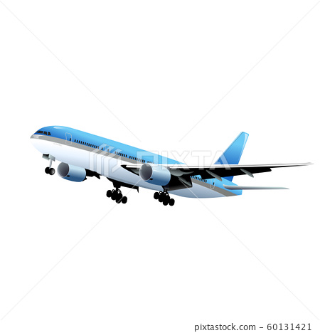airplane isolated on white 60131421