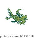 crocodile cartoon. Animal cartoon character Vector 60131818
