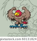 eagle mascot Character . cartoon character Vector 60131824
