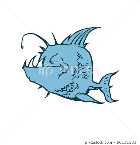Psycho Fish Piranha. Animal cartoon character 60131833