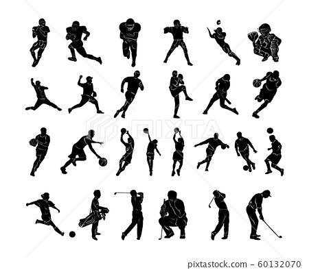 Set Sports people Silhouettes collection 60132070