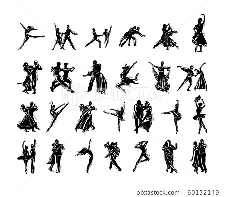 dancer silhouette collection 60132149