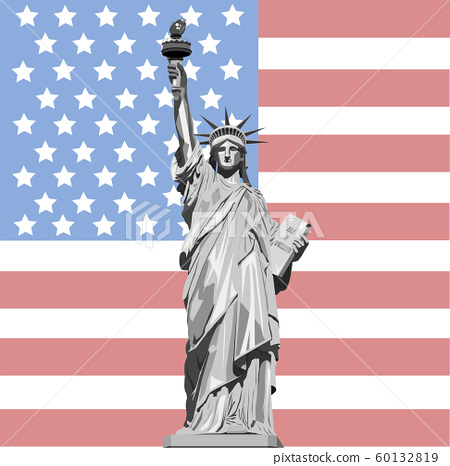 vector illustration of statue of liberty 60132819