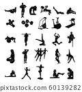 fitness people silhoulette. Vector Illustration.. Collection set 60139282