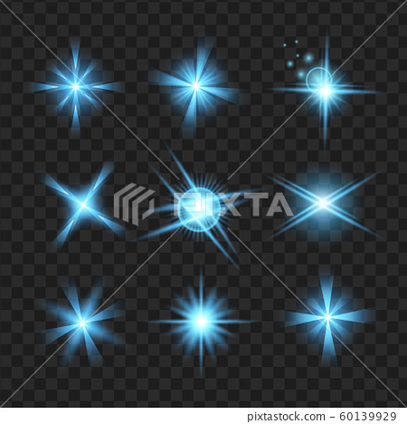 blue shine stars with glitters, Effect graphic 60139929