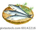 Watercolor sardine 60142216
