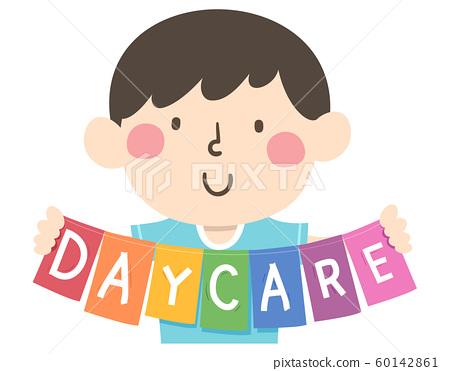 Kid Hold Daycare Illustration 60142861