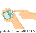 Hands Blood Sugar Monitor Illustration 60142879
