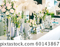 Wedding Welcome table with luxury decoration with 60143867