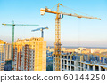 Cranes on industrial building site 60144250