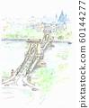 世界遺產城市景觀,匈牙利,鏈橋俯瞰 60144277