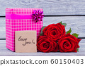 Gift, roses and love you card. 60150403