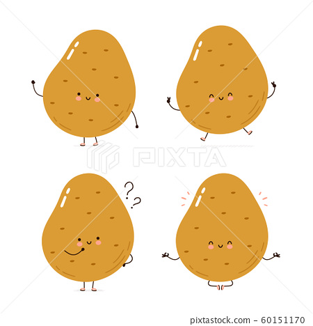 Cute happy potato character set collection 60151170